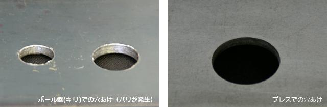 プレス加工によるバリ取り不要な穴あけについて